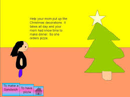 one day my mom said do you want to help me put up the christmas