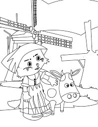 dutch milk maid coloring page handipoints