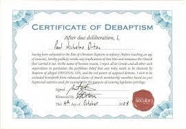certificate of debaptism kale u0027s blog