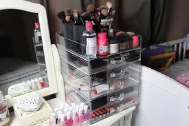 home design kim kardashian acrylic makeup storage small kitchen
