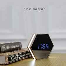 bedroom clocks creative multi function mirror clock stylish minimalist luminous