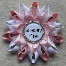 baby shower corsages mommy to be pin grandma to be ribbon