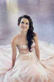 blush wedding dress trend 10 gorgeous glittery sequin wedding dresses bustier wedding