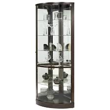 Curio Cabinet Accent Lighting Amazon Com Pulaski Cannes Corner Curio Cabinet Sable Kitchen