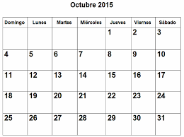 imagenes calendario octubre 2015 para imprimir calendario de octubre 2015 en pdf para imprimir