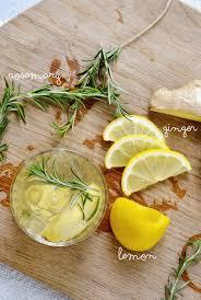 rosemary lemon ginger gin cocktail
