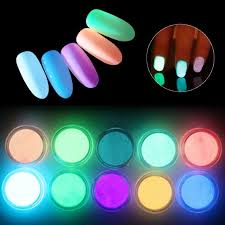 meicaillin 12 color fluorescent powder diy bright nail art glow in