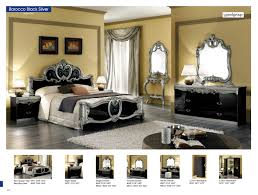 Bedroom Furniture Dresser With Mirror by Barocco Black W Silver Camelgroup Italy Classic Bedrooms