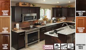 Georgetown White Kountry Wood Products Kountry Wood Cabinets - Georgetown kitchen cabinets
