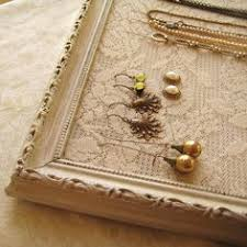 Shabby Chic Jewelry Display by Blog Cousin Corporation U003e Diy Table Top Earring Holder The Frame