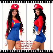 Mario Womens Halloween Costume Disfraz Mario Bros Luigi Mujer Buscar Google