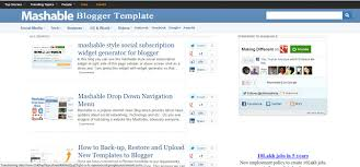 templates for blogger for software free download mashable blogger template