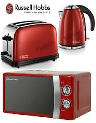 Toaster And Kettle Set Red Rhmm701r Manual Red Microwave Russell Hobbs Colours Kettle And