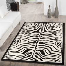 Wohnzimmer Modern Weiss Teppich Modern Wohnzimmer Kurzflor Tiermuster Zebra Design In