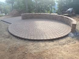 Circular Paver Patio Circle Paver Patio Kits A Circle Shaped Concrete Paver