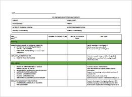 teacher lesson plan template u2013 9 free sample example format