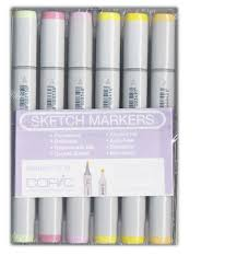 copic very pastel sketch marker set 12 pieces