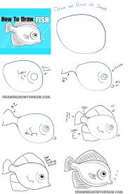 how to draw a fish step by step how to draw a pinterest