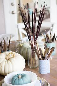 thanksgiving table ideas with martha stewart paints vintage decor