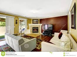 Grey Home Interiors Home Interior With Contrast Color Walls Stock Photo Image 44237407