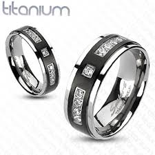 titanium wedding ring sets for him and his 4pc silver black stainless steel titanium wedding