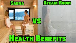 sauna vs steam room health benefits youtube