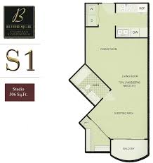 Studio Plan by Biltmore Square Condo Floor Plans