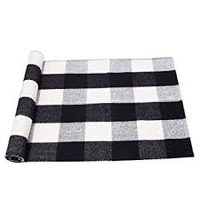 Checkered Area Rug Pragoo Black White Cotton Rug Plaid Checkered Area Rug