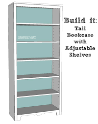 A Frame Bookshelf Plans Tall Bookcase With Adjustable Shelves Sawdust