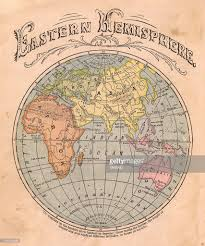 Eastern Hemisphere Map Old Color Map Of The Eastern Hemisphere From 1867 Stock Photo