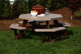 Luxcraft Fine Outdoor Furniture by Octagon Poly Picnic Table Get Ready To Enjoy Nature And The