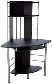 Tower Corner Desk Homcom 45 Arch Tower Corner Computer Desk Black