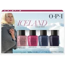 opi iceland 2017 collection mini lacquer set 4 x 3 75ml