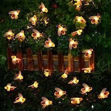 solar string lights led honey bee solar string lights summer garden outdoor decor