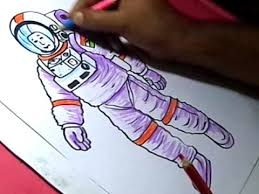 how to draw nasa astronaut drawing for kids youtube