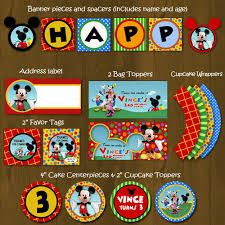 mickey mouse clubhouse party mickey mouse clubhouse printable birthday party package diy