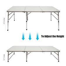 Outdoor Table Ls Cing Outdoor Picnic Portable Aluminum Alloy 3 Fold Table
