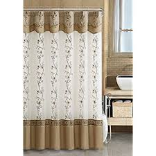 Amazon Com Shower Curtains - amazon com uphome shabby chic linen u0026 beige diamond marble