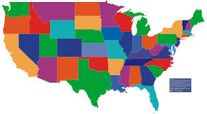 us map states by color simplified vector map united states america stock 193344767 with