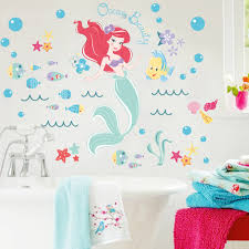 popular underwater wall stickers buy cheap underwater wall the little mermaid underwater fish wall stickers for kids rooms home decoration diy 3d window sticker