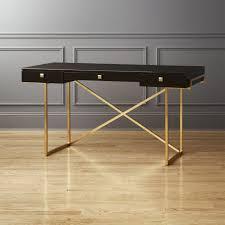 Small Black Desks Small Desks Cb2