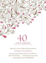40th anniversary invitations 14 best 40th wedding anniversary images on parents