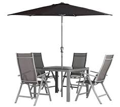 Steel Patio Furniture Sets by Buy Collection Malibu 4 Seater Steel Patio Set At Argos Co Uk