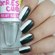 29 black and white acrylic nail art designs ideas design