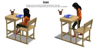 table activit b b avec siege around the sims 4 custom content desk chair