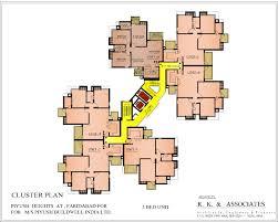 cluster home floor plans apartment in piyush heights prithvi estates