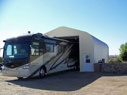 metal rv garages prefab steel motorhome garage kits