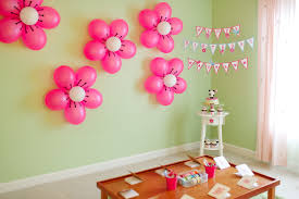 flower decoration in home simple birthday party decorations at home party themes inspiration