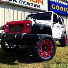 matte pink jeep jeep wrangler xd series xd810 brigade wheels black pink