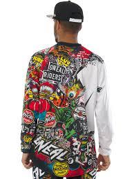 mens motocross jersey oneal black multi 2018 mayhem lite crank mx jersey oneal